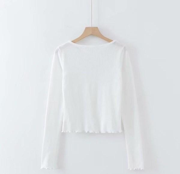 Low-cut Neckline Buttons Cardigan Shirt   Lisa – BlackPink