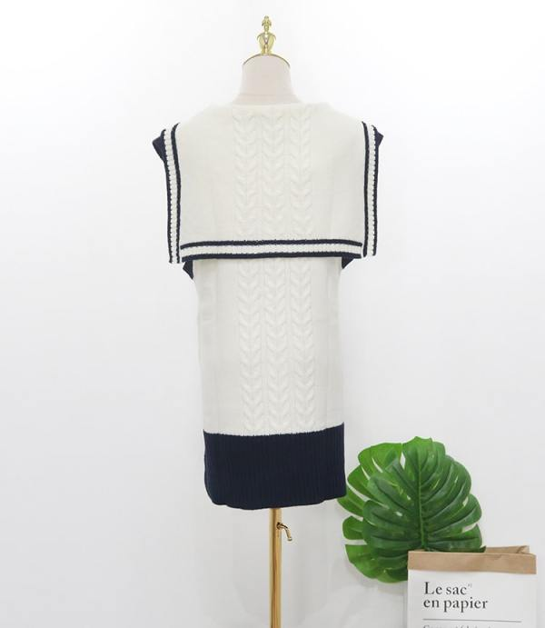 Sailor Type Knitted Sweater Vest | Yuqi – (G)I-DLE
