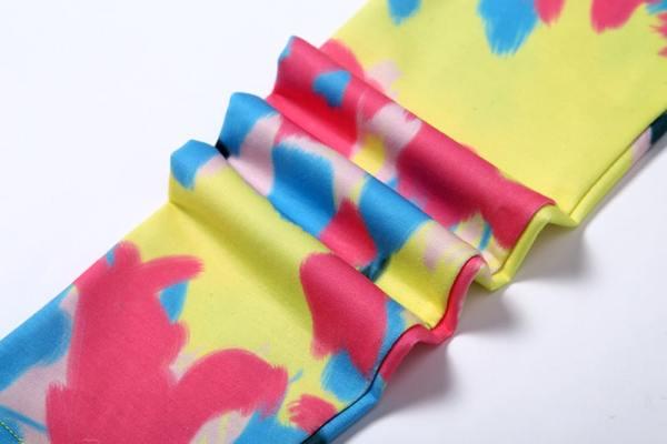 Multicolor Dye Gradient Buttoned Crop Cardigan   Hyuna