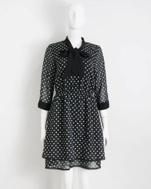 Hyuna Polka Dots Black Dress (6)
