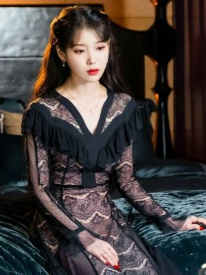 Black Lace Dress | IU – Hotel Del Luna
