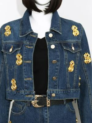 IU Dollar Sign Denim Jacket (5)-min