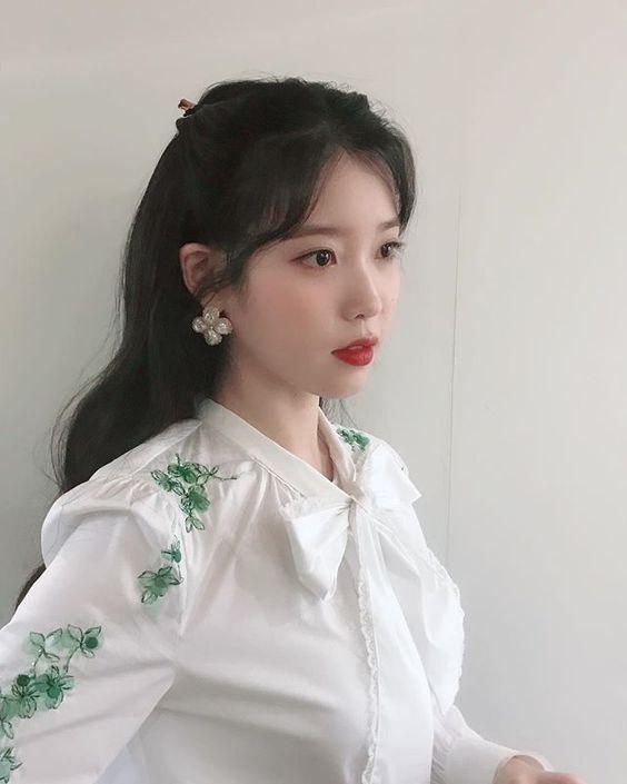 White Flower Embroidered Blouse | IU – Hotel Del Luna