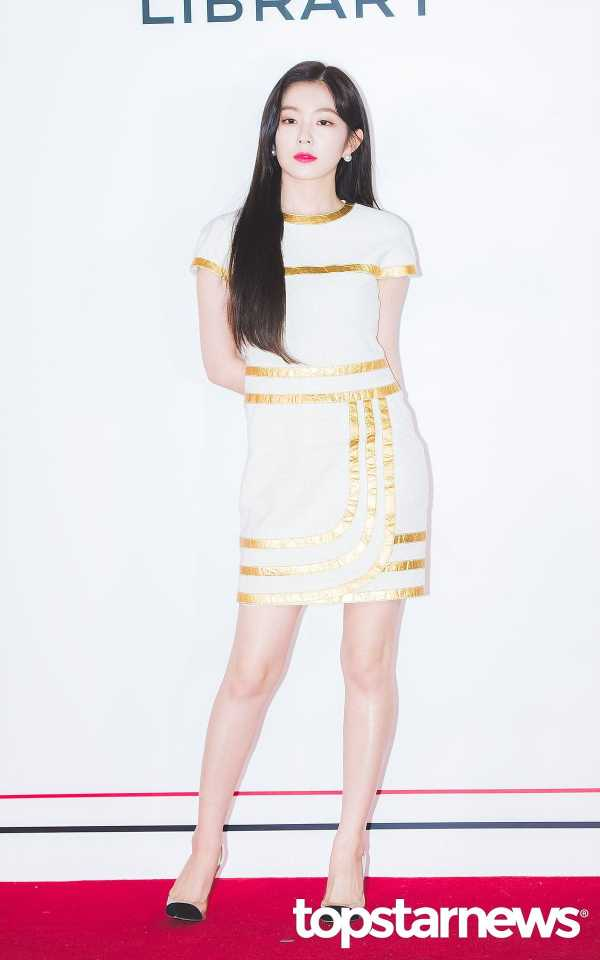 Gold Outlined White Dress | Irene – Red Velvet