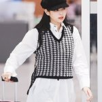 Black And White Houndstooth Vest | Jennie – BlackPink