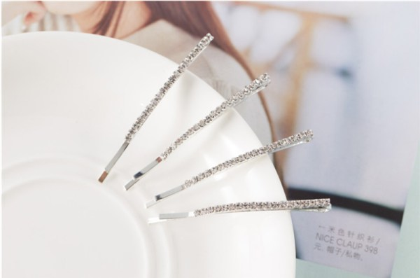 Set of 4 Long Rhinestone Bobby Pins | Jennie – BlackPink