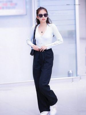 Wide Black Trousers | Jennie – BlackPink