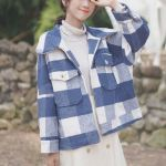 Blue Checkerd Flannel Design Jacket