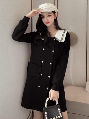 Chaeryeong Sailor Collar Long Sleeve Dress (5)