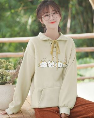 Cute Cat Illustration Hoodie