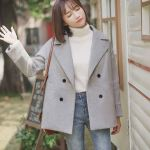 Grey Coat With Plain Inner Lining