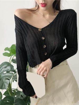 Hwasa Buttoned Short Thin Cardigan (19)