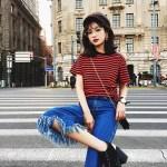 Red Black Striped T-Shirt | Jimin – BTS
