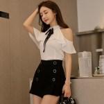 Bare Shoulders Ruffled Blouse | Jisoo – BlackPink