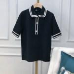 Black Doll Collar Knit T-Shirt | Jisoo -BlackPink