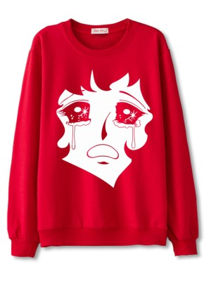 Jisoo Crying Anime Sweater (1)