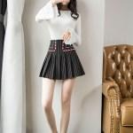 Pleated Striped High Waist Skirt   Jisoo – BlackPink