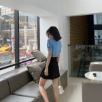 Black Side Buckles Designed Skirt | Jisoo – BlackPink