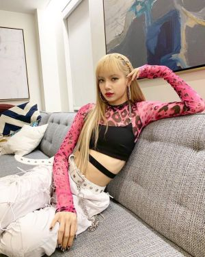 Pink Leoprint See-Through Shirt | Lisa – BlackPink