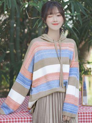 Loose Striped Multicolored Hoodie (1)