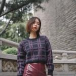 Checkered Knit Sweater | Momo – Twice