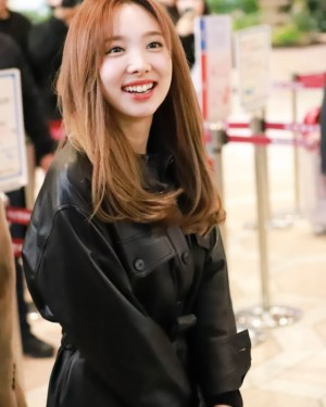 Lace Belted Leather Long Jacket | Nayeon -Twice