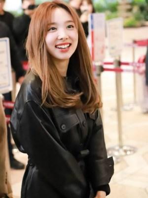 Lace Belted Leather Long Jacket | Nayeon -Twice