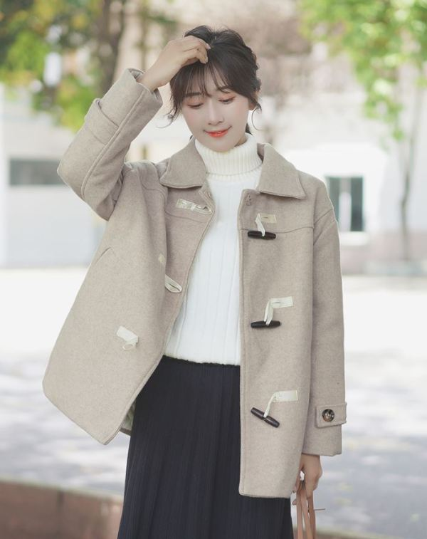 Regular Beige Coat