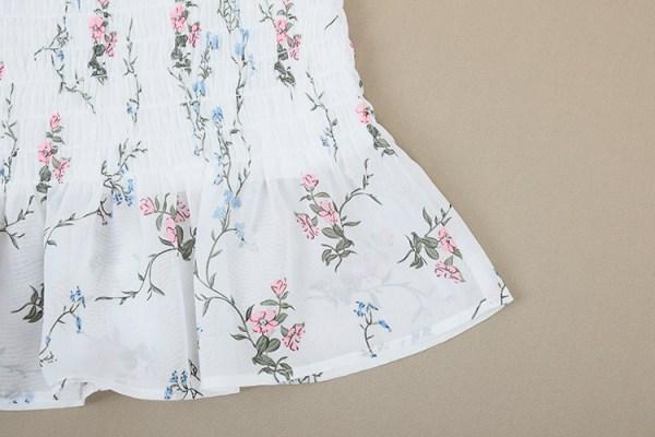 Floral Ruffled Chiffon Dress   Rose – BlackPink