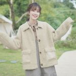 Soft Beige Jacket With Bags