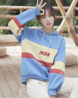 Striped Blue Num Hoodie (1)
