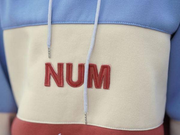 "Striped Blue ""Num"" Hoodie"