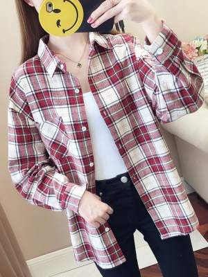 Taehyung Checkered Shirt With Bag (6)