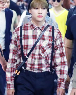 Checkered Shirt With Bag | Taehyung – BTS
