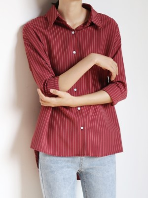 Taehyung Wine Red Shirt (2)