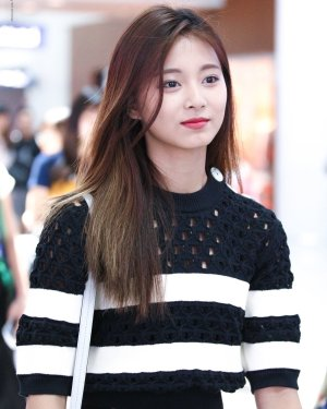 Black White Striped Shirt With Holes | Tzuyu – Twice