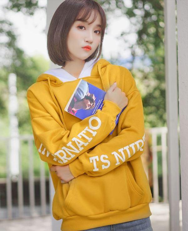 Yellow Writing On Sleeves Hoodie