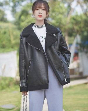 Black Leather Jacket With Wool Inner Lining (12)