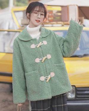 Dull Green Horn Buckle Coat (12)