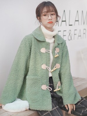 Dull Green Horn Buckle Coat