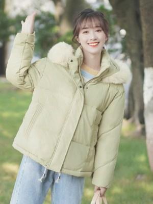 Dull Yellow Jacket With Fur Hood (11)