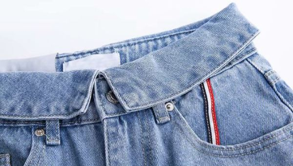 Jeans With Folded Waist