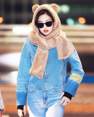Blue Casual Denim Jacket | Jennie – BlackPink