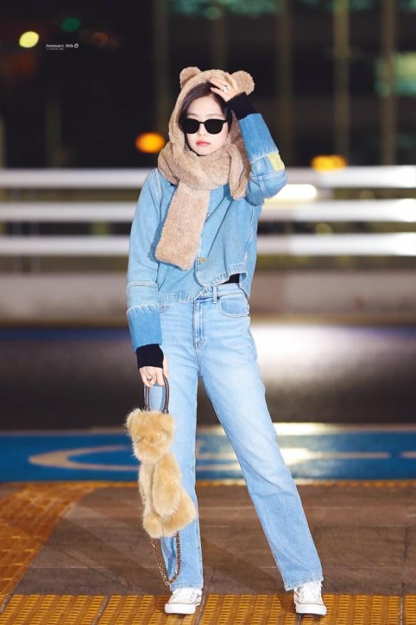 Blue Casual Denim Jacket | Jennie – BlackPink