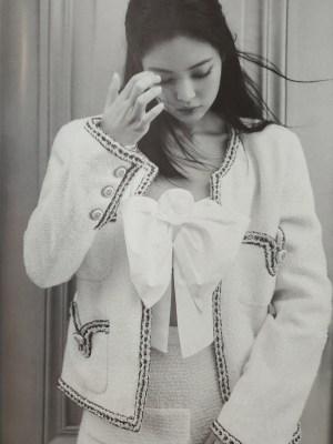 Tweed White Wool Coat | Jennie – BlackPink