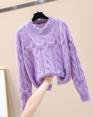 Joy Lilac Round Neck Sweater (10)