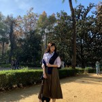 Pleated Long Skirt | Joy – Red Velvet