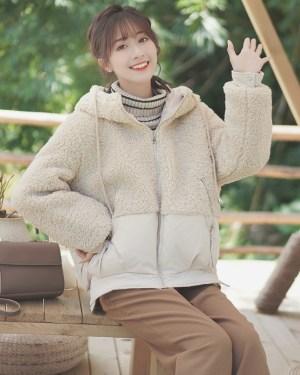 Korean Fluffy Zipper Hoodie Jacket (10)