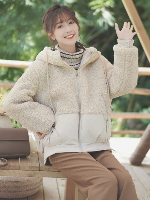 Korean Fluffy Zipper Hoodie Jacket (10)