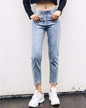 Light Blue Visible Zipper Jeans (1)